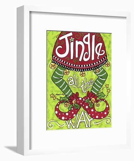 Jingle All the Way Elf-Jennifer Nilsson-Framed Giclee Print