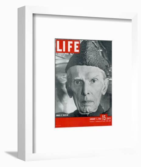 Jinnah of Pakistan, January 5, 1948-Margaret Bourke-White-Framed Photographic Print