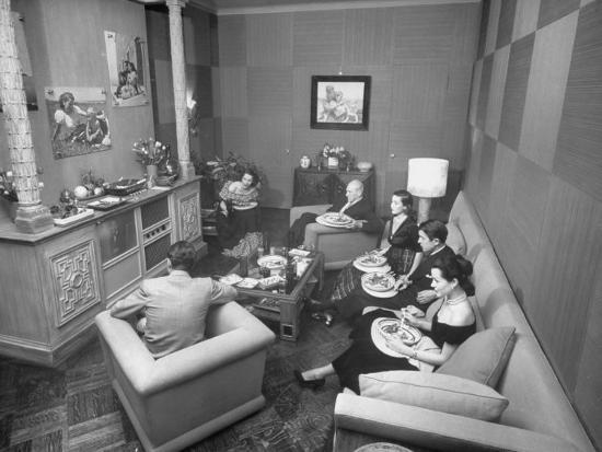 Jinx Falkenburg's Television Room--Photographic Print