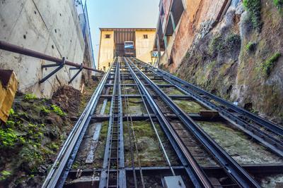 San Agustin Funicular in Valparaiso, Chile