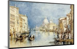 The Grand Canal, Venice, with Gondolas and Figures in the Foreground, circa 1818 by JMW Turner