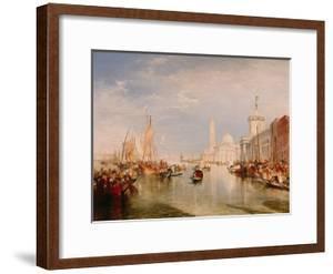 Venice, Dogana and S. Giorgio Maggiore by JMW Turner