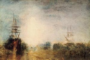 Whalers (Boiling Blubbe) Entangled in Flaw Ice, Endeavouring to Extricate Themselves, 1846 by JMW Turner