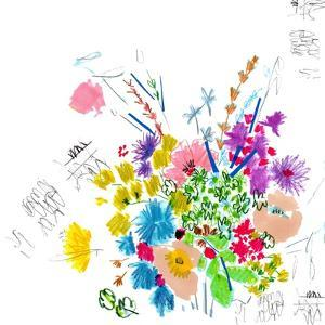 Floral Sketch, 2014 by Jo Chambers