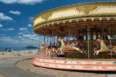 Having Fun on Brighton Beach, England