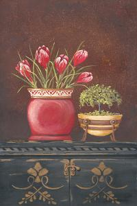 Asiain Red Crocus Floral by Jo Moulton