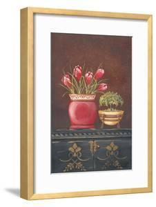 Asian Red Crocus Floral by Jo Moulton