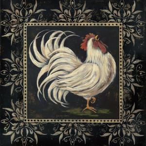 Black and White Rooster I by Jo Moulton