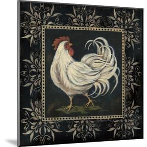 Black and White Rooster II by Jo Moulton
