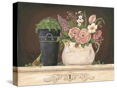 Floral with Black Bucket