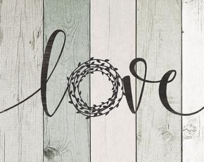 Love Rustic Wreath II by Jo Moulton