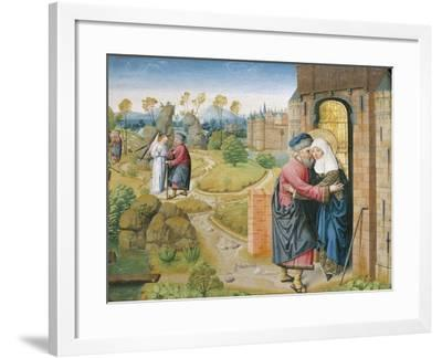 Joachim and Anne at the Golden Gate--Framed Giclee Print