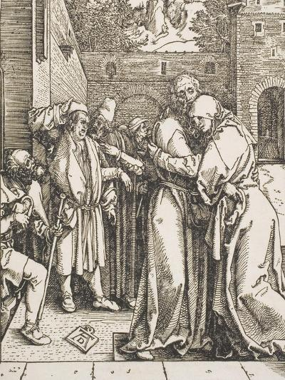 """Joachim and Saint Anne Meet at the Golden Gate, from the Series """"The Life of the Virgin"""", 1504-Albrecht D?rer-Giclee Print"""