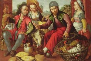 The Poultry Vendors, Signed and Dated 1st September 1563 by Joachim Beuckelaer