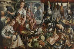 The Well-Stocked Kitchen, 1566 by Joachim Beuckelaer