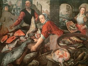 The Fish Market by Joachim Bueckelaer