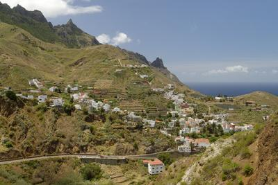 Anaga mountains with view on Taganana and the Atlantic, Tenerife, Canary Islands, Spain