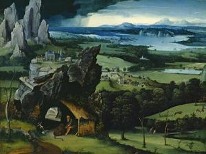 Landscape with Saint Jerome, 1516-1517 by Joachim Patenir