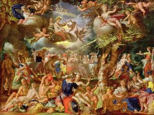 The Wedding of Cupid and Psyche by Joachim Wtewael Or Utewael