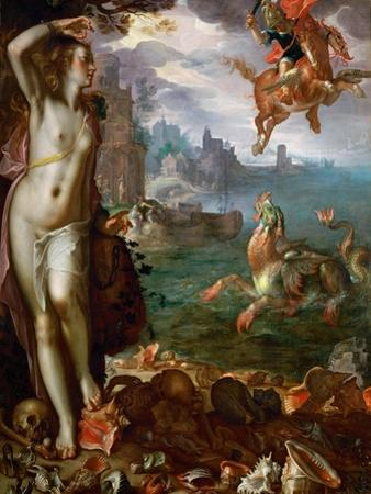 Perseus Freeing Andromeda by Joachim Wtewael