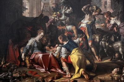 The Adoration of the Shepherds, 1598, by Joachim Wtewael (1566-1638). Netherlands