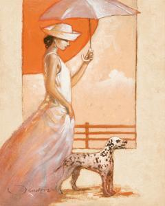 White Lady with Dalmatian by Joadoor