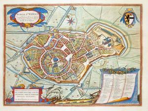 Bergen, Netherlands, 1649 by Joan Blaeu
