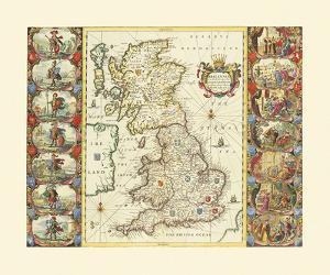 British Isles, 1645 by Joan Blaeu