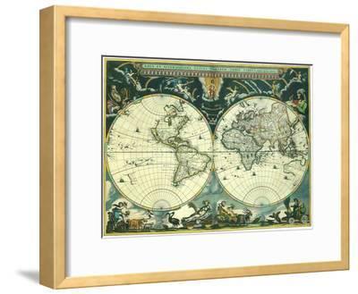 Double Hemisphere Map 1662