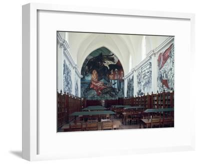 Gabino Ortiz Library Room with Frescoes by Clemente Orozco, 1940