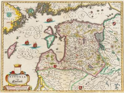 Livonia Map, Vulgo Lyefland, Atlas Maior by Joan Blaeu