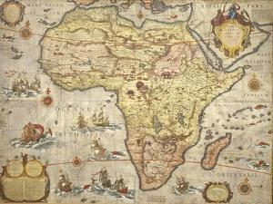 Map of Africa in 1686 by Joan Blaeu