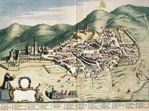 Map of Assisi from Theatrum Civitatum Et Admirandorum Italiae by Joan Blaeu
