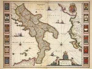 Map of Calabria Region by Joan Blaeu
