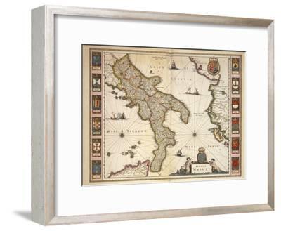 Map of Calabria Region