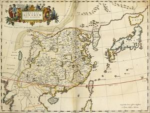 Map of China, from 'Atlas Maior Sive Cosmographia Blaviana', 1662 by Joan Blaeu