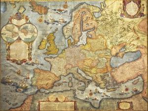 Map of Europe 1686 by Joan Blaeu