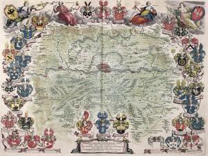 Map of Frankfurt and the Surrounding Area, from Nova Hanc Territori Francofurtensis Tabulum, 1649 by Joan Blaeu