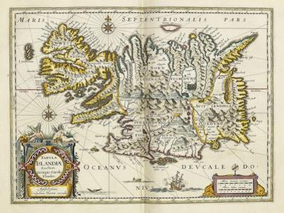Map of Iceland, from 'Atlas Maior Sive Cosmographia Blaviana', 1662 by Joan Blaeu