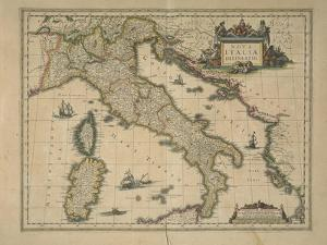 Map of Italy by Joan Blaeu