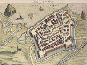 Map of Nettuno, from Theatrum Civitatum Et Admirandorum Italiae by Joan Blaeu
