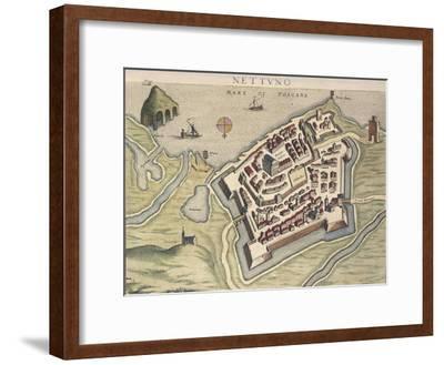 Map of Nettuno, from Theatrum Civitatum Et Admirandorum Italiae
