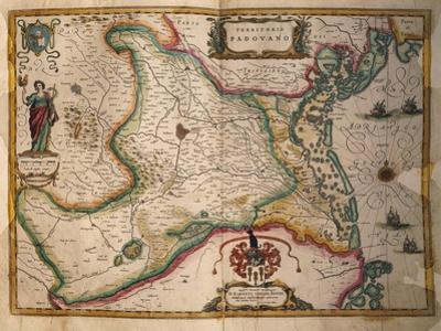 Map of Paduan Domain from Theatrum Civitatum Et Admirandorum Italiae by Joan Blaeu