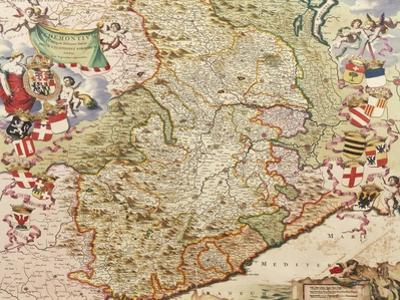 Map of Turin, 1682