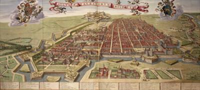 Map of Turin, from Theatrum Sabaudiae