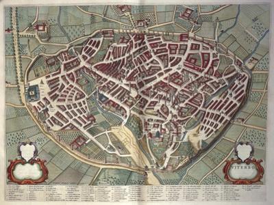 Map of Viterbo from Theatrum Civitatum Et Admirandorum Italiae by Joan Blaeu