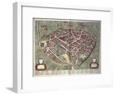 Map of Viterbo from Theatrum Civitatum Et Admirandorum Italiae