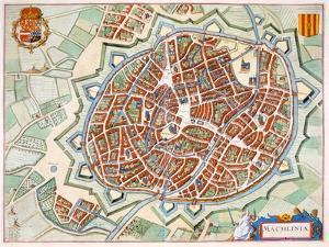Mechelen, 1649 by Joan Blaeu
