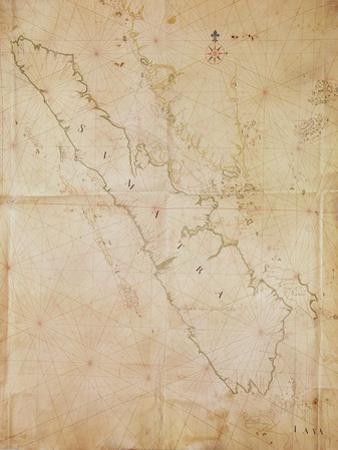Ms 1288 Chart of Sumatra, 1653 by Joan Blaeu