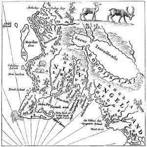 New England in 1660 by Joan Blaeu